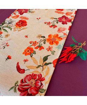 Гобеленовая дорожка на стол Цветочное поле