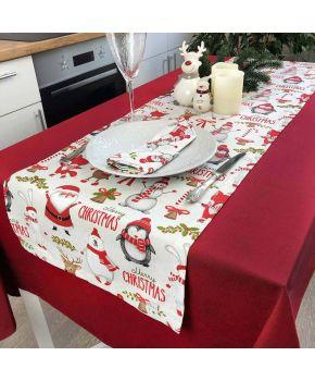 Дорожка на стол Веселый Санта