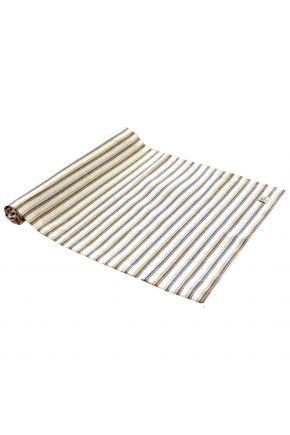 Дорожка на стол Кантри коричневая полоска