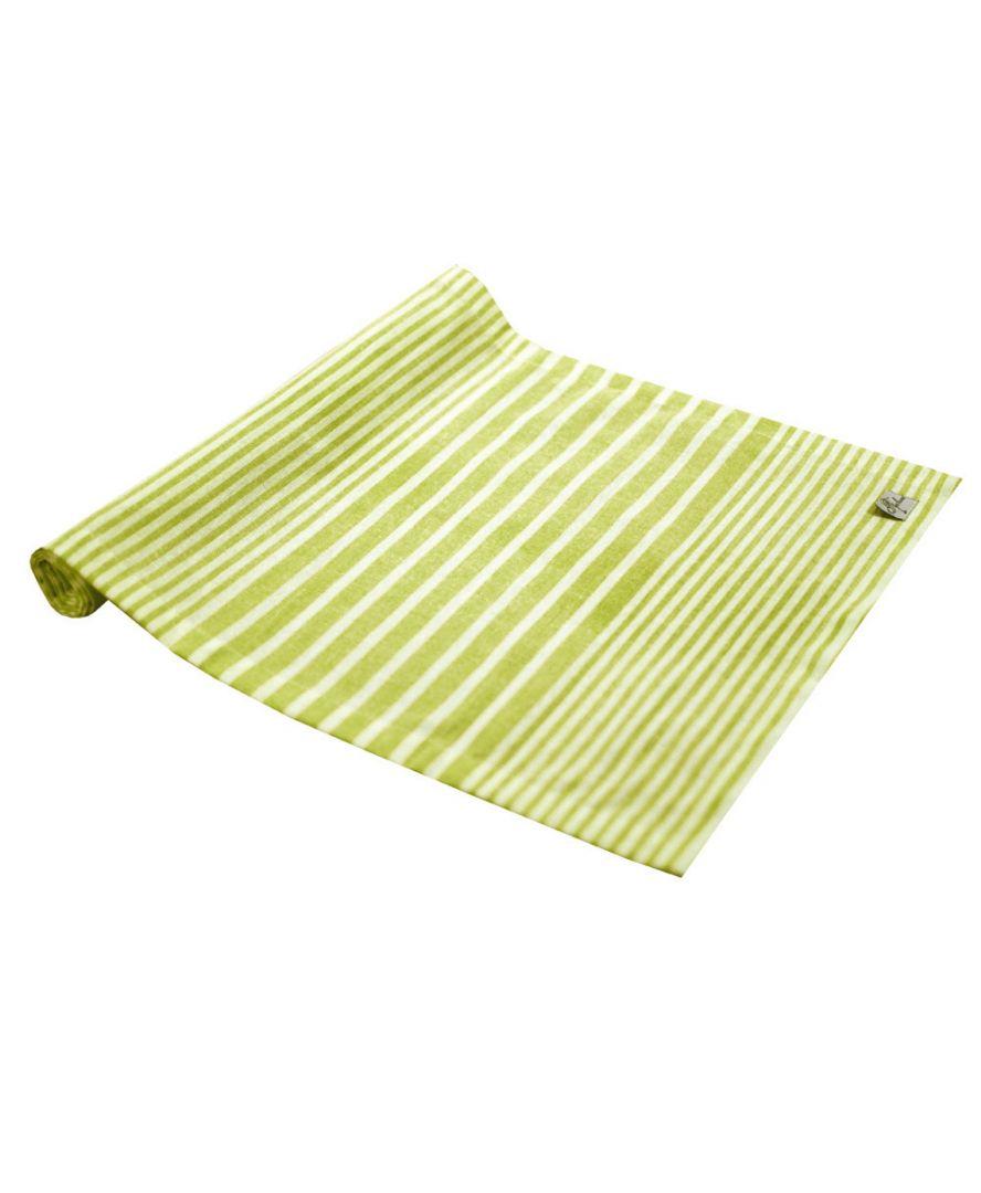 Дорожка на стол Кантри зеленая полоска