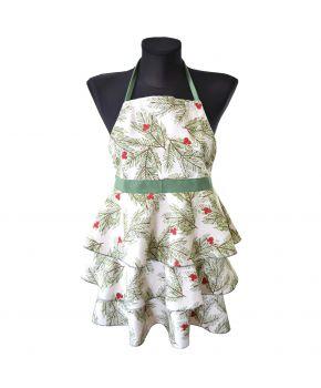 Детский кухонный фартук Елочка с воланами