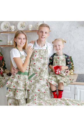 Кухонный фартук Елочка с воланами