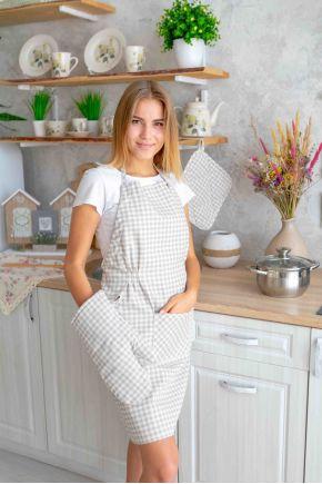Кухонный фартук Bella Серая клеточка