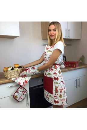 Кухонный фартук Веселый Санта