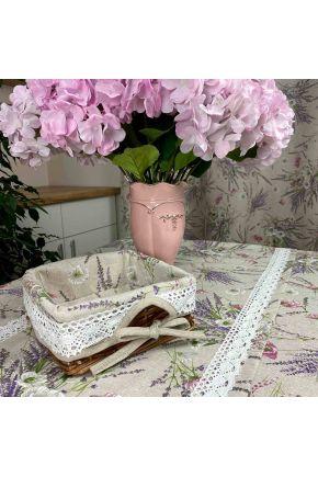 Хлебница декоративная плетенная Grosso с чехлом