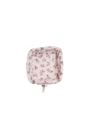 Хлебница декоративная ТМ Прованс Lilac rose с мережкой плетеная с чехлом