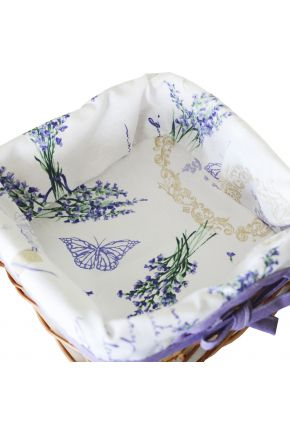 Хлебница плетенная Living Лаванда