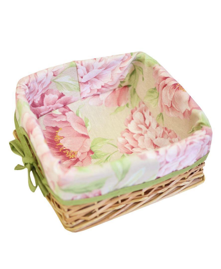 Хлебница плетенная Пионы