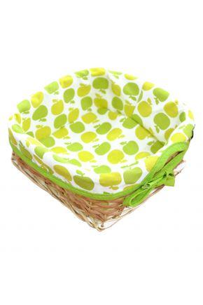 Хлебница плетенная Яблочки