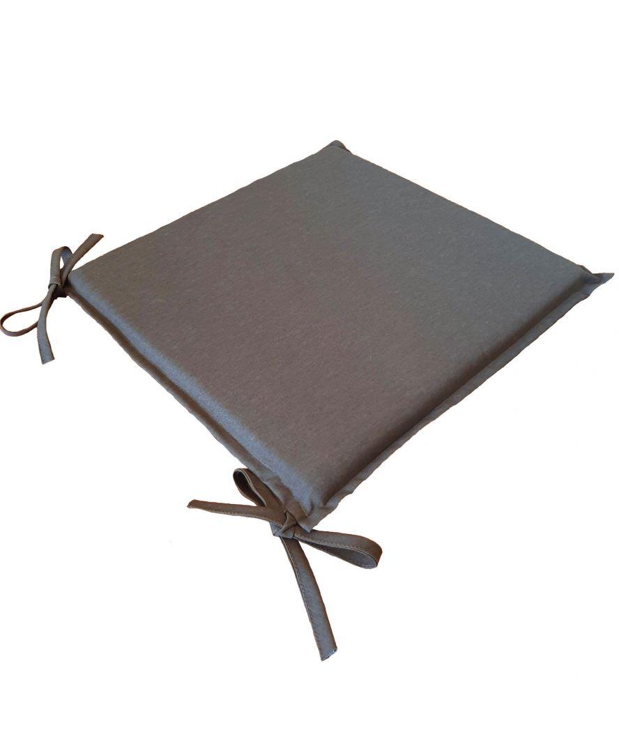 Подушка на стул Элит Коричнева