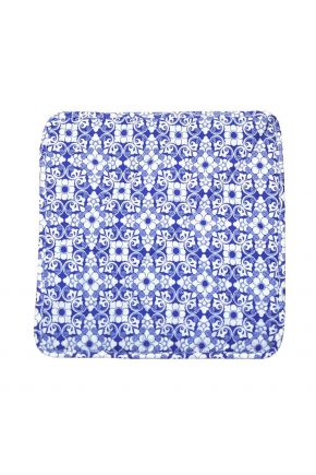 Чехол на табурет узор на синем