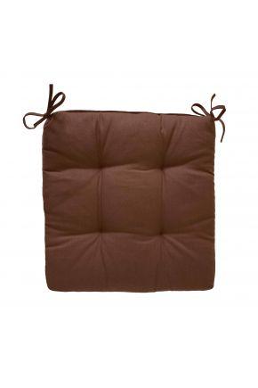 Подушка на стул коричневая