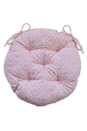 Подушка круглая на стул Bella Розовый витраж