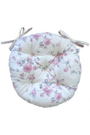 Подушка круглая на стул Bella Розы