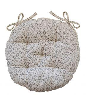 Подушка круглая на стул Bella Серый витраж