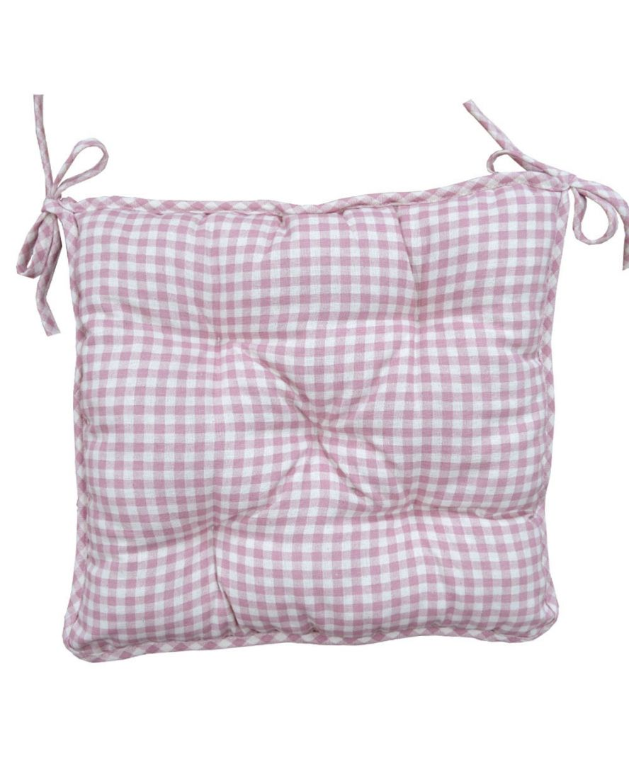 Подушка на стул Bella Розовая клеточка