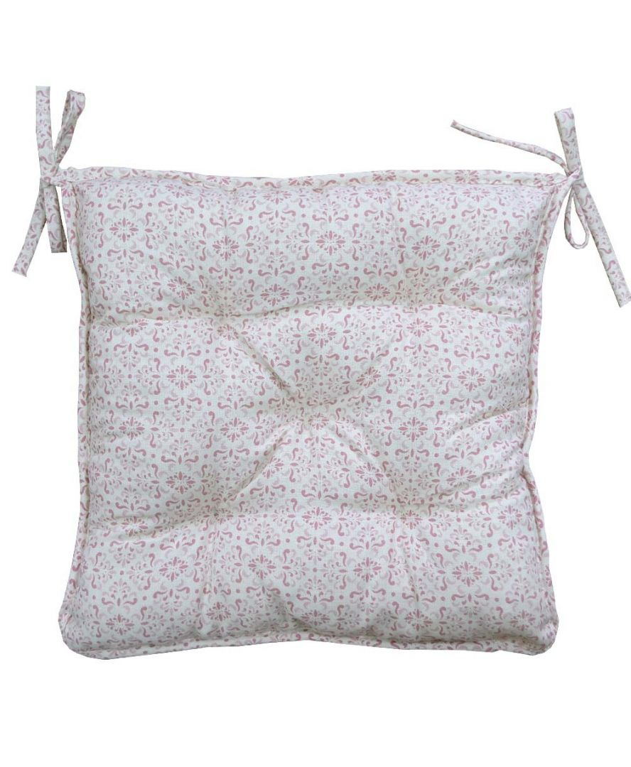 Подушка на стул Bella Розовый витраж