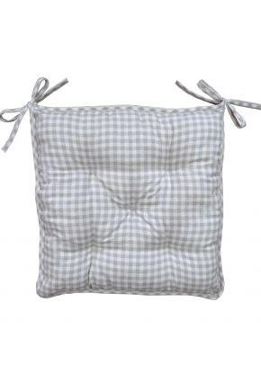 Подушка на стул Bella Серая клеточка