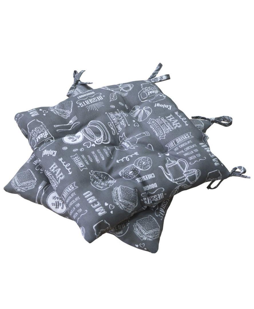Подушка на стул Breakfast Grey