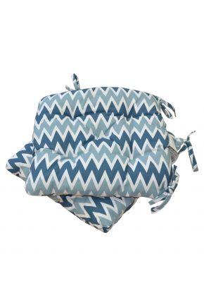 Подушка на стул Геометрия голубая