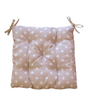 Подушка на стул горох беж