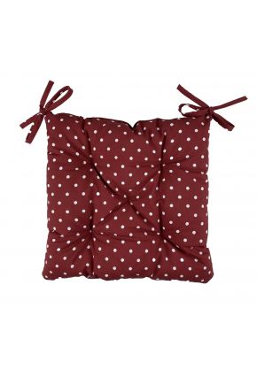 Подушка на стул Горох бордо