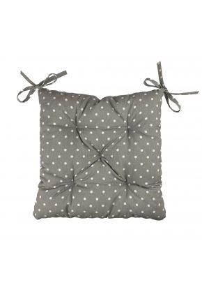 Подушка на стул Горох серый