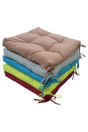 Подушка на стул красная
