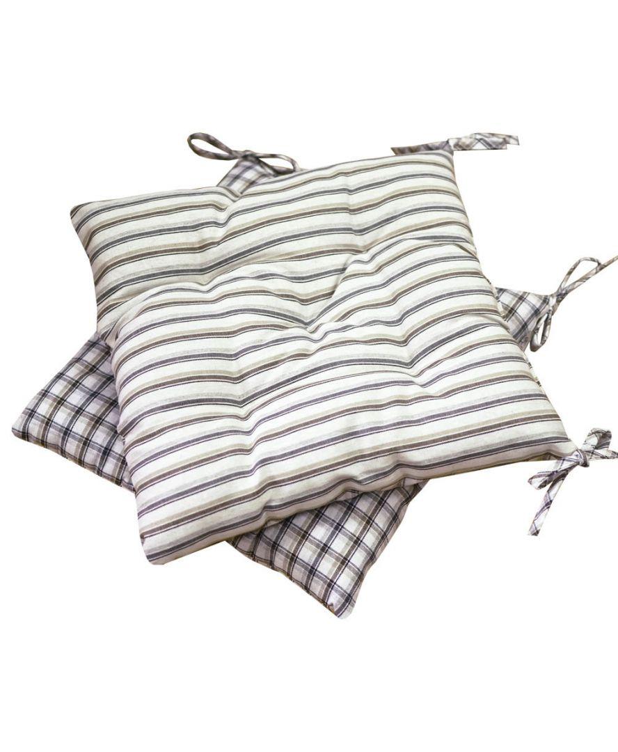 Подушка на стул Кантри коричневая