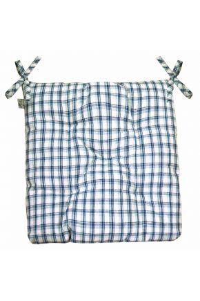 Подушка на стул Кантри синяя