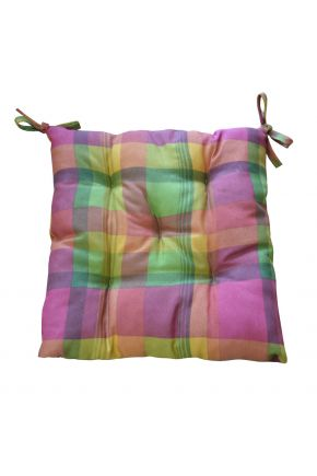 Подушка на стул клеточка