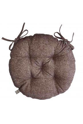 Подушка на стул круглая La Nuit ORO Коричневая
