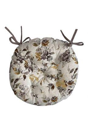 Подушка на стул круглая La Nuit ORO Роза коричневая