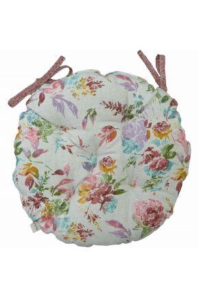 Подушка на стул круглая La Nuit ORO Роза разноцветная