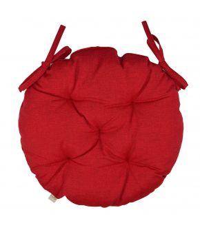 Подушка на стул круглая La Nuit РОУЗ Красная