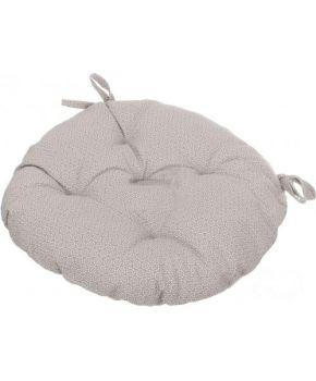 Подушка на стул круглая La Nuit ШАТО коричневый горох
