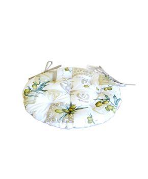 Подушка на стул Круглая Олива