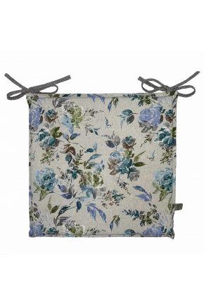 Подушка на стул La Nuit ORO Роза голубая
