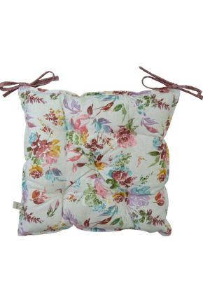 Подушка на стул La Nuit ORO Роза разноцветная