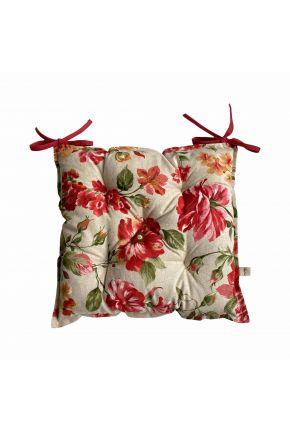 Подушка на стул La Nuit РОУЗ Цветы большие