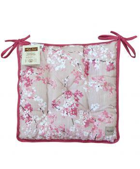 Подушка на стул La Nuit Сакура розовый цветок