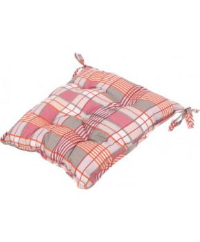 Подушка на стул La Nuit ШАТО клеточка розовая
