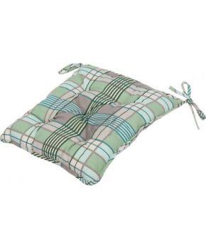 Подушка на стул La Nuit ШАТО клеточка зеленая