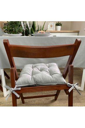 Подушка на стул Серая