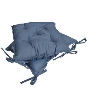 Подушка на стул Серо-Голубая