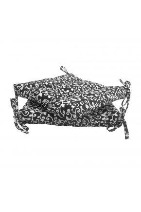 Подушка на стул Вензель на черном