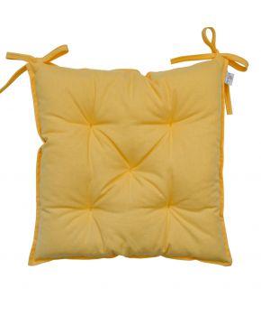 Подушка на стул Желтая