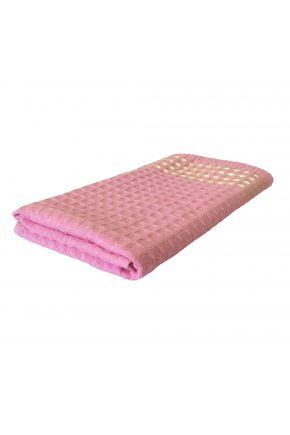 Вафельное полотенце розовое