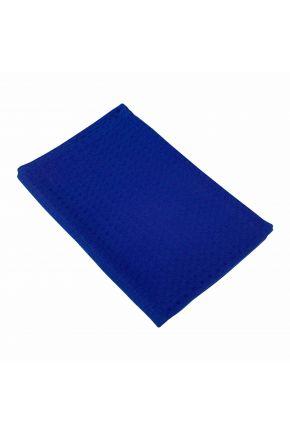 Вафельное полотенце синее