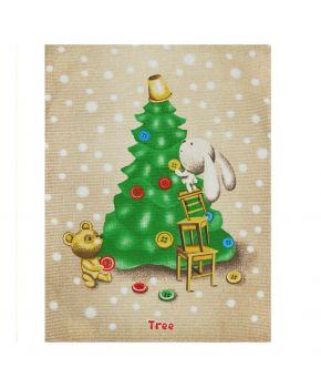 Кухонное полотенце вафельное новогодние Tree